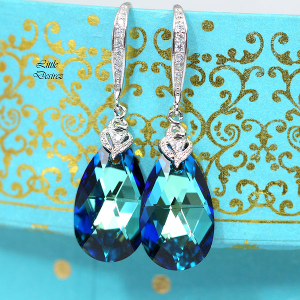Blue Wedding Earrings BB-32
