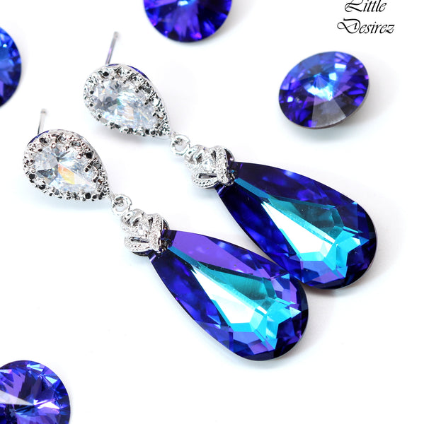 Purple Swarovski Jewelry Set HE-33