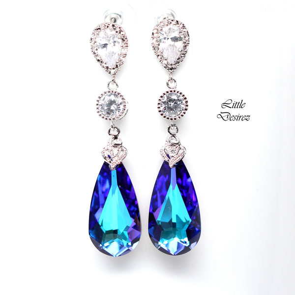 Swarovski Crystal Wedding Earrings HE-33