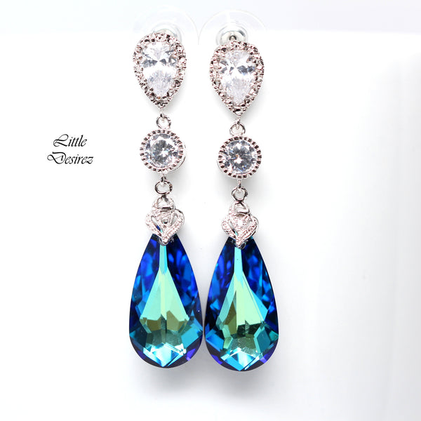 Blue Bridal Jewelry Swarovski Bermuda Blue BB-33