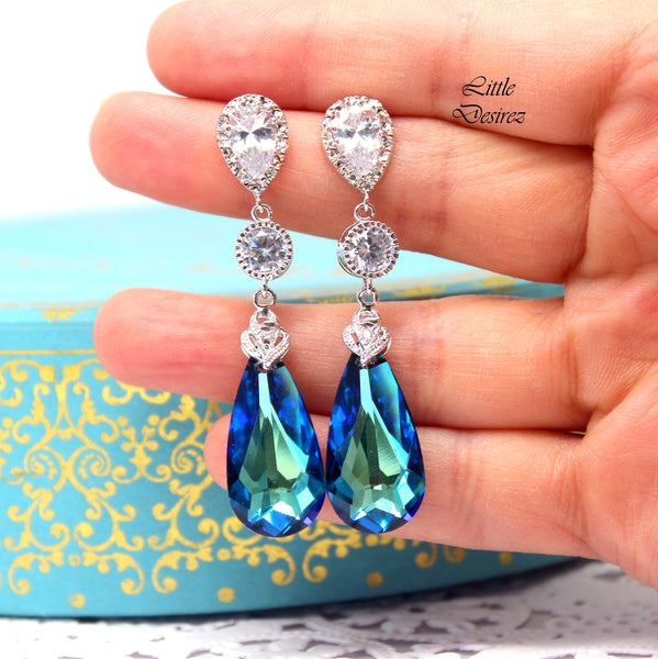 Blue Chandelier Earrings BB-33