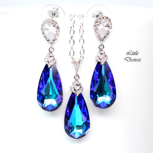 Purple Chandelier Earrings HE-33