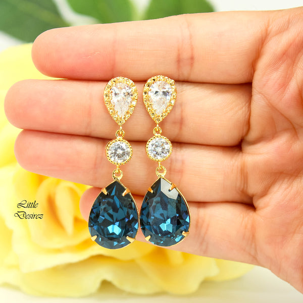 Long Blue Earrings MO-31