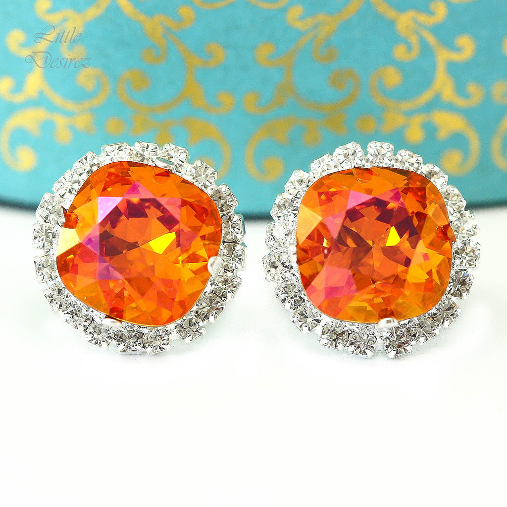 Astral Pink Swarovski Stud Earrings AP-50
