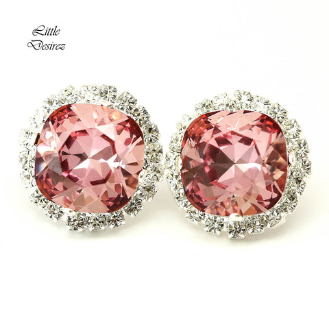 Blush Pink Earrings Vintage Pink Earrings BP-50