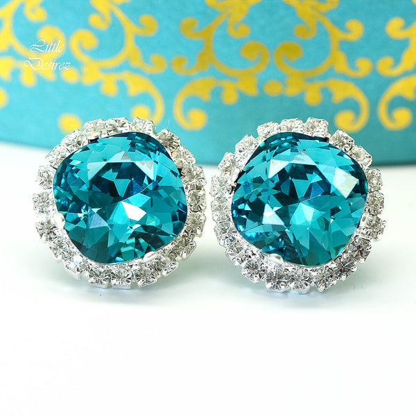 Bridal Blue Earrings Wedding Earrings IN-50