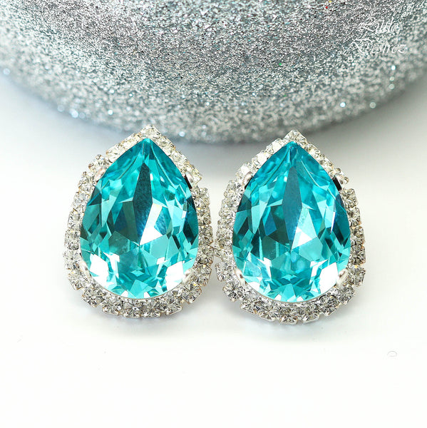Stud Earrings Turquoise Earrings Blue Earrings Bridal Bridesmaid Earrings TQ-31