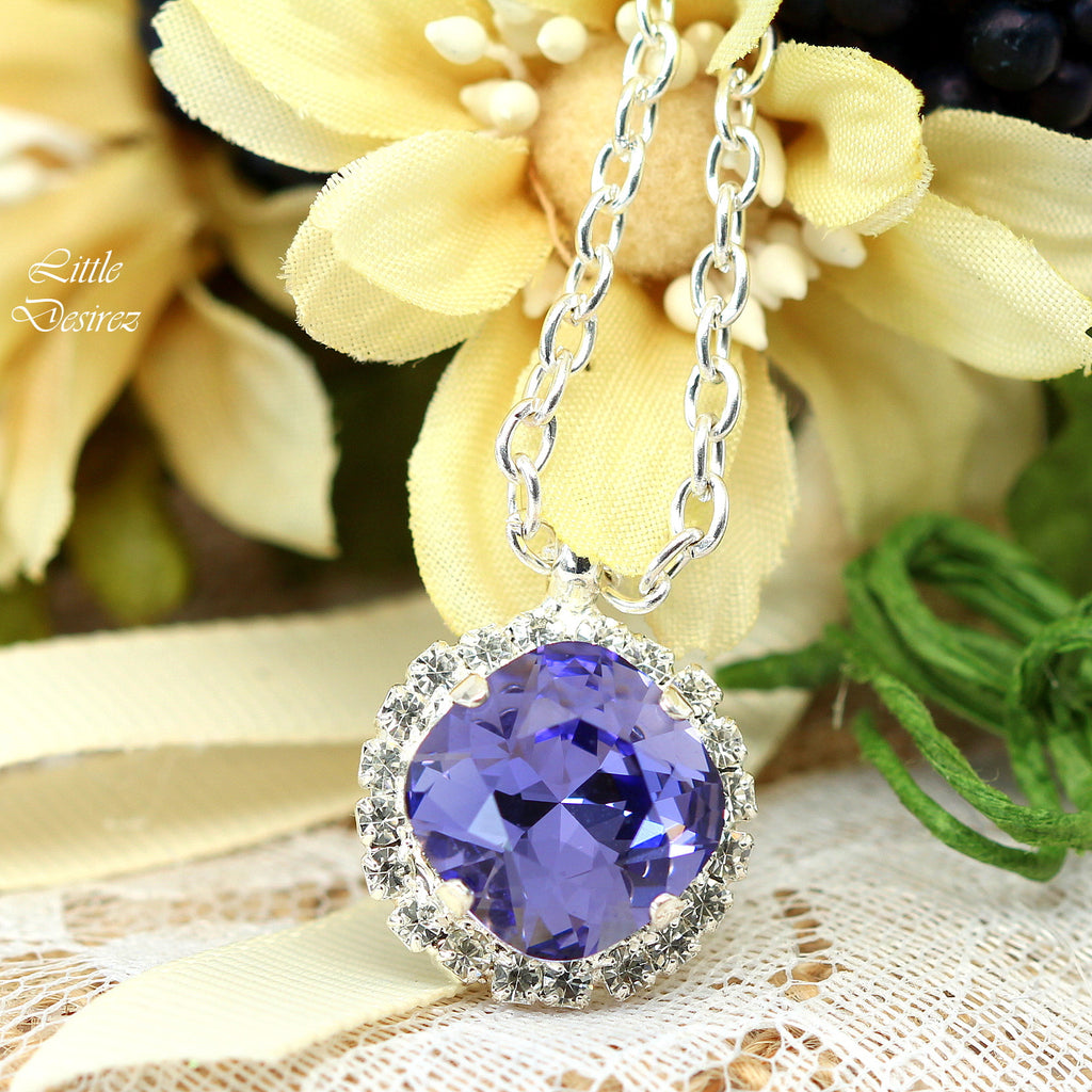 Purple Crystal Necklace TZ-50