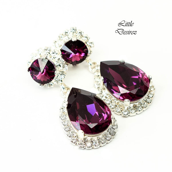 Amethyst Chandelier Earrings AM-31-DD
