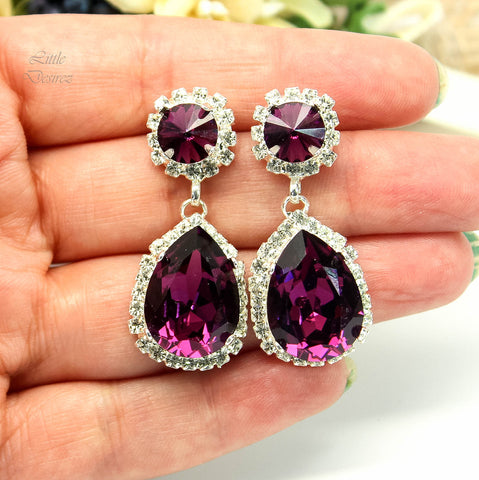 Amethyst Chandelier Earrings AM-31