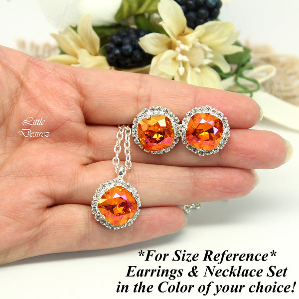 Swarovski Coral Stud Earrings CO-50