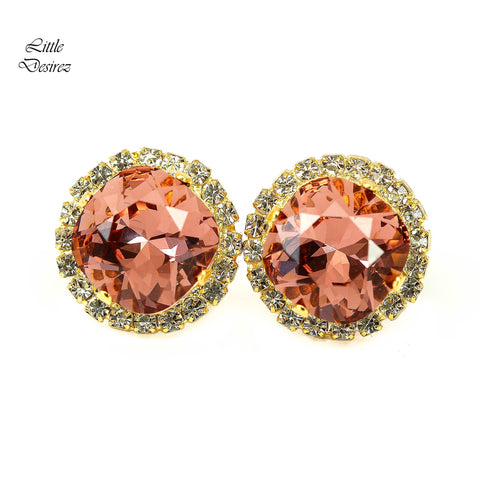 Blush Earrings Swarovski Stud Earrings BR-50