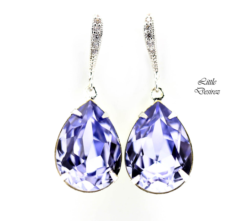 Crystal Lavender Earrings PL-31