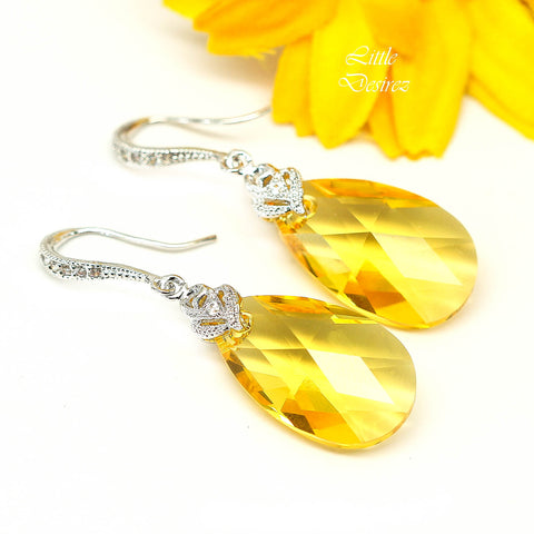 Yellow Earrings Sunflower Earrings LT-32