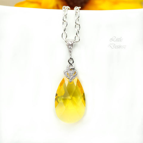 Swarovski Crystal Yellow Necklace LT-32