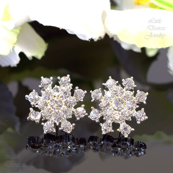 Crystal Stud Earrings STARBURST