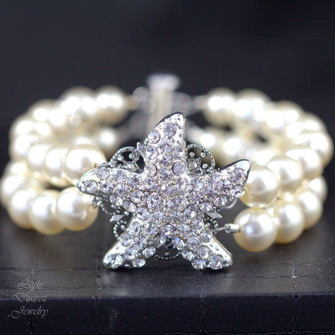 Pearl and Crystal Starfish Bracelet KAI