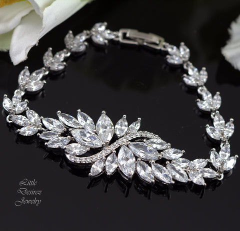 Bridal Bracelet Crystal Wedding Bracelet