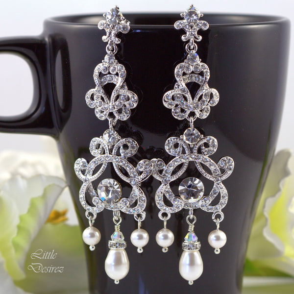 Crystal Chandelier Earrings Wedding Jewelry ZARA