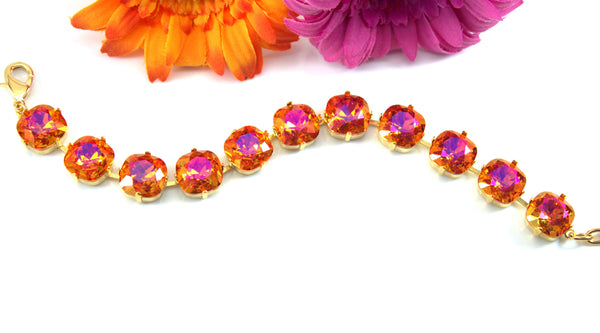 Gold Bracelet Orange Pink Bracelet AP-50