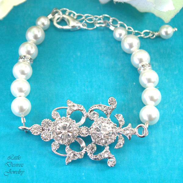 Pearl and Rhinestone Bracelet ELEANOR