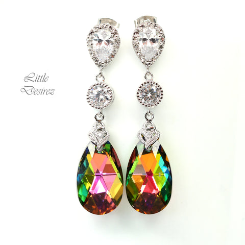 Colorful Earrings Chandelier Earrings Dangle Earrings VM-32
