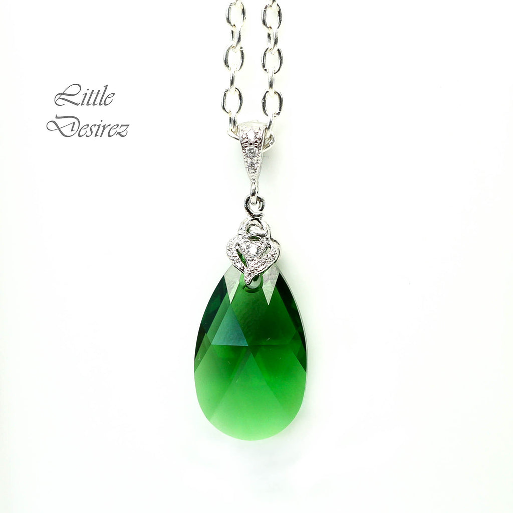 Emerald Green Crystal Necklace DM-32