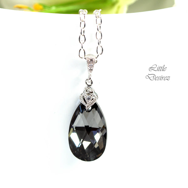 Charcoal Grey Necklace SN-32