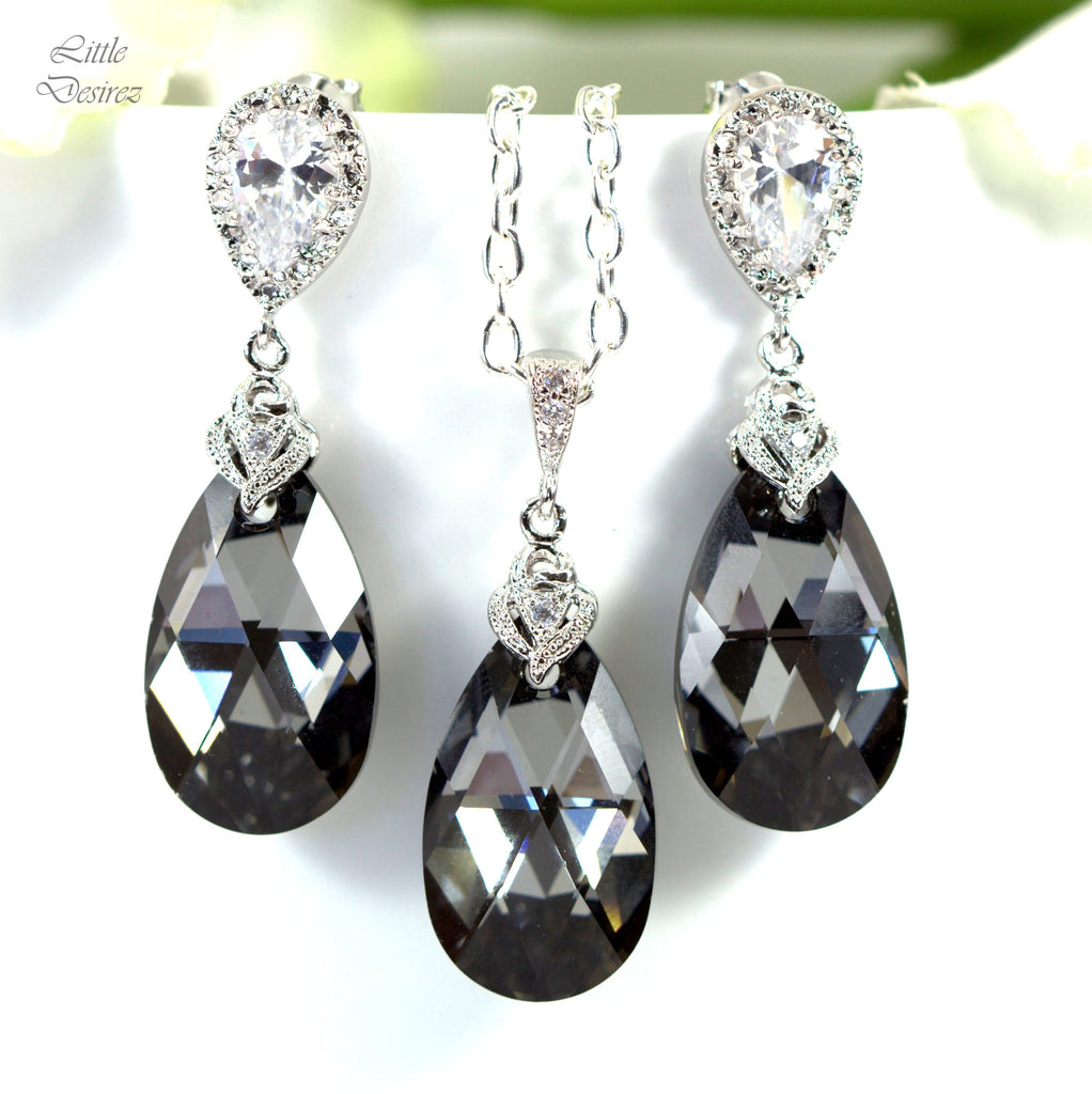 Charcoal Grey Jewelry Set SN-32