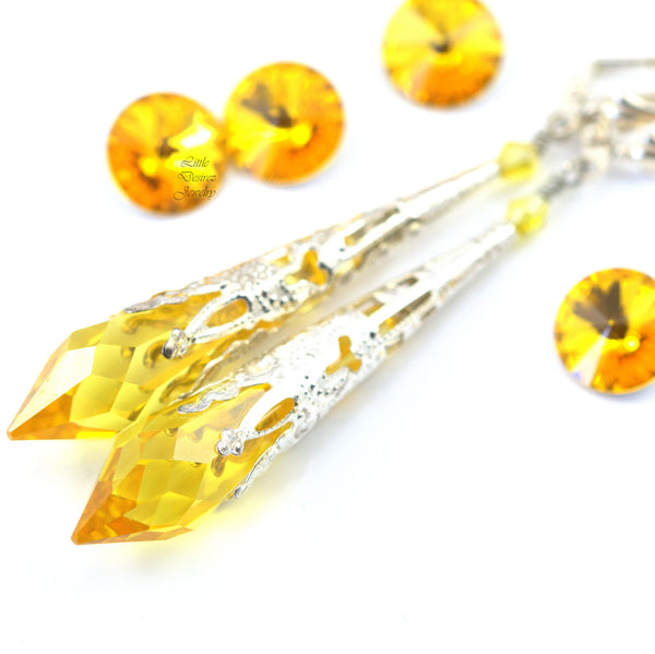 Yellow Earrings Bridesmaid Earrings LT-36