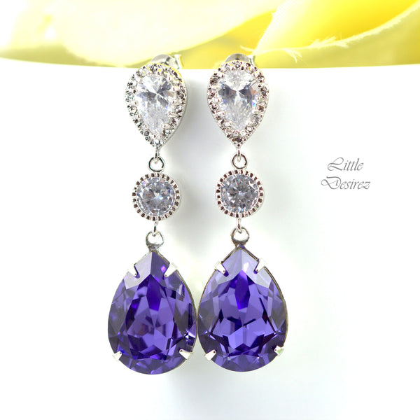 Dangle Purple Earrings TZ-31