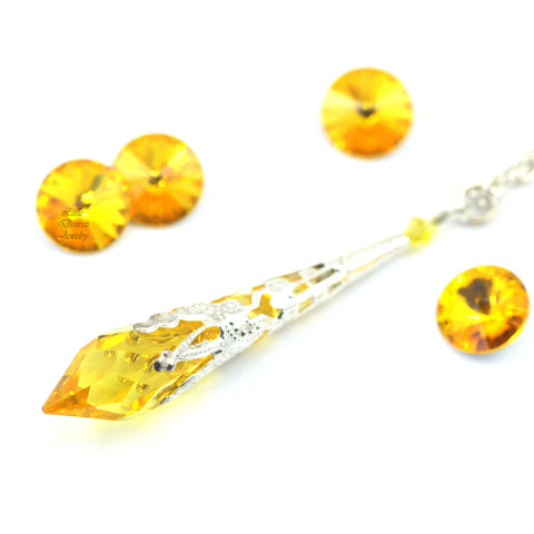 Yellow Pendant Necklace LT-36