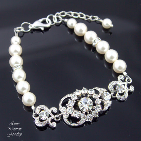 Pearl Bridal Bracelet Wedding Bracelet AMENDINE
