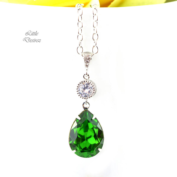 Green Crystal Necklace FG-31