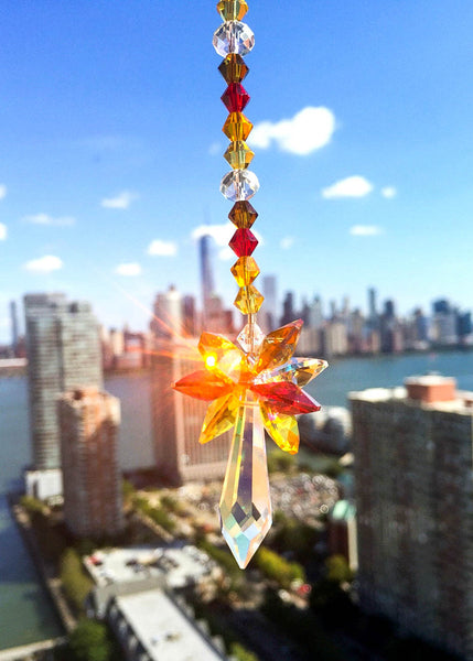 Swarovski Crystal Suncatcher Autumn Colors