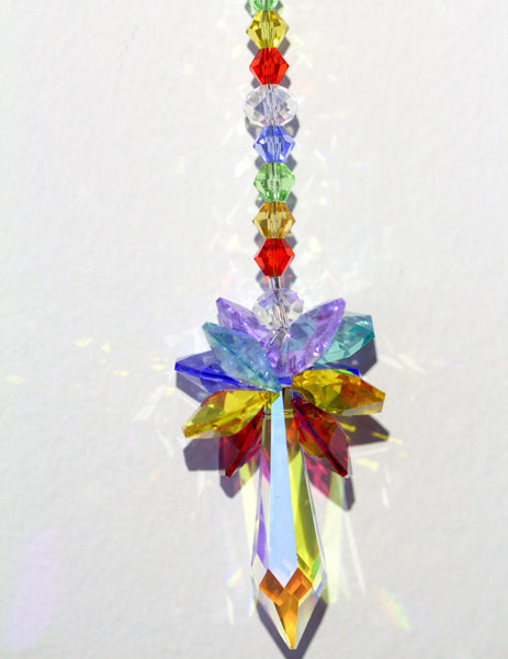 Rainbow Ornament Crystal Suncatcher Rainbow
