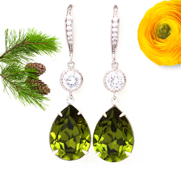 Green Drop Earrings OG-31