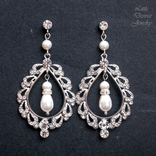 Vintage Style Bridal Earrings EMILY