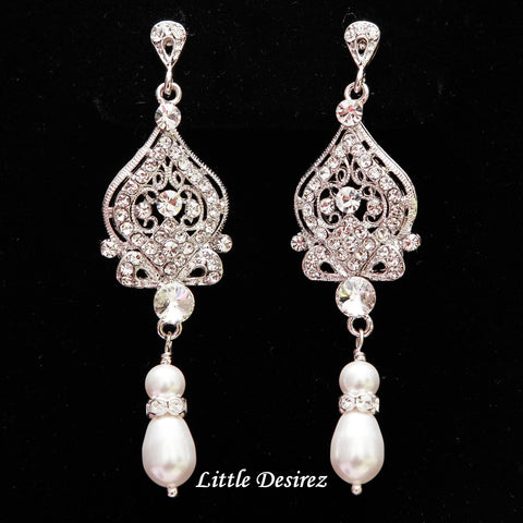 Vintage Jewelry Bridal Earrings Wedding Jewelry ARIANA
