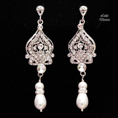 Vintage Filigree Bridal Earrings ARIANA