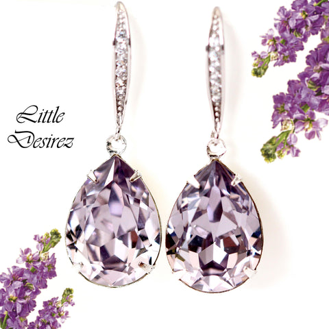 Purple Dangle Earrings SM-31