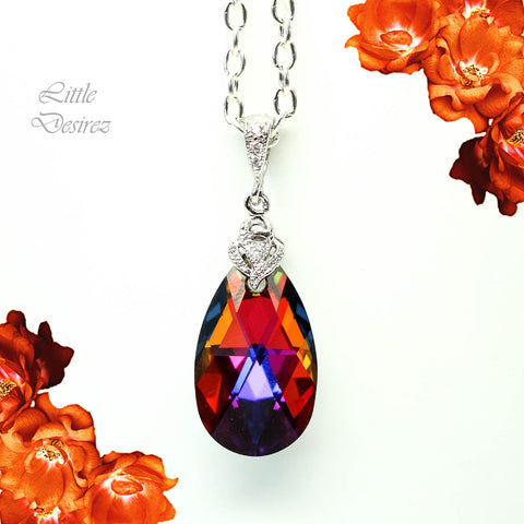 Swarovski Volcano Crystal Necklace VO-32