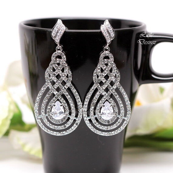 Crystal Chandelier Earrings INFINITY