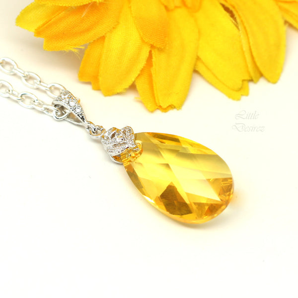 Swarovski Yellow Jewelry Set Lemon Zest LT-32