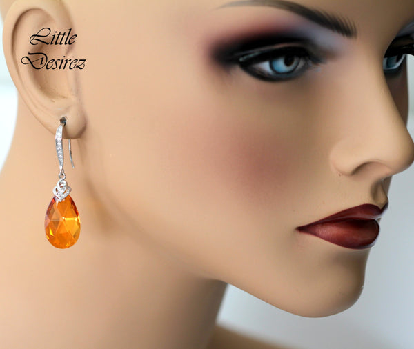 Orange and Pink Earrings AP-32