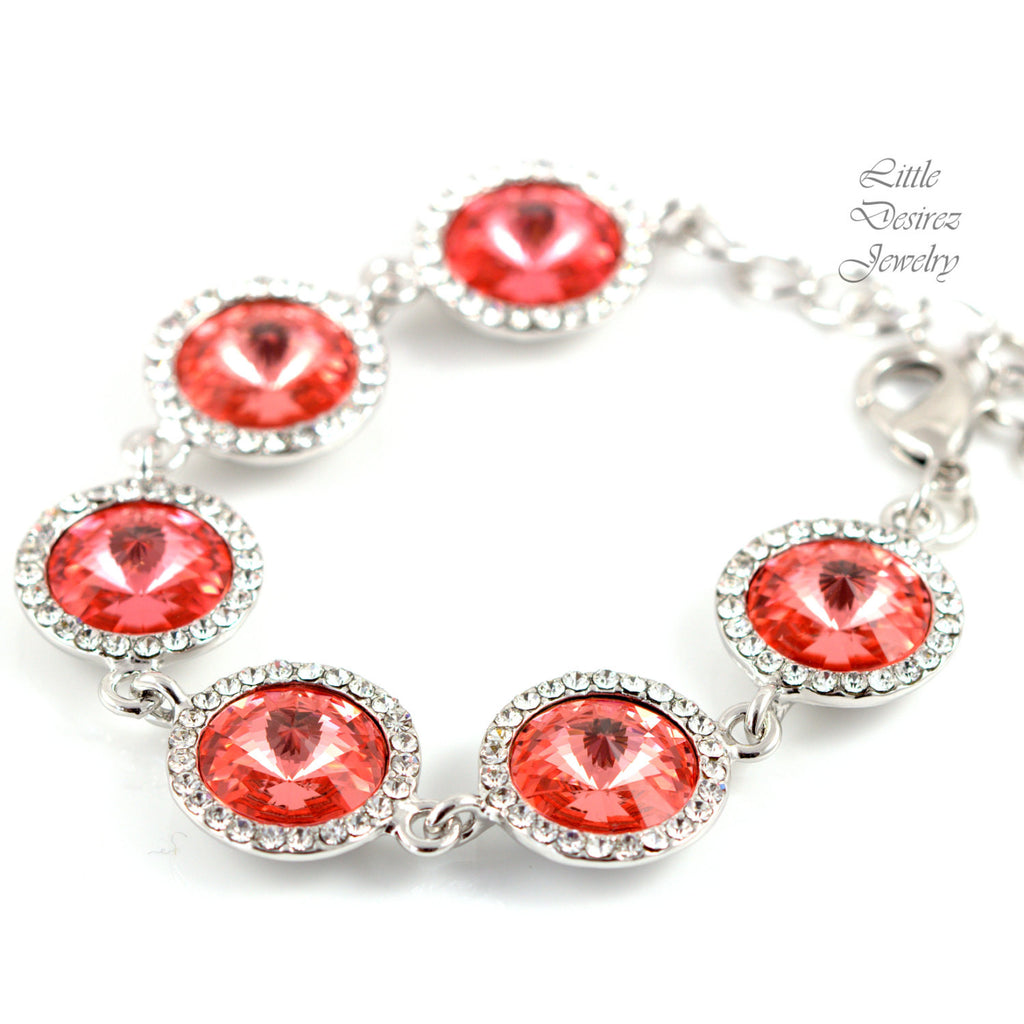 Coral Bracelet Swarovski Jewelry CO-34