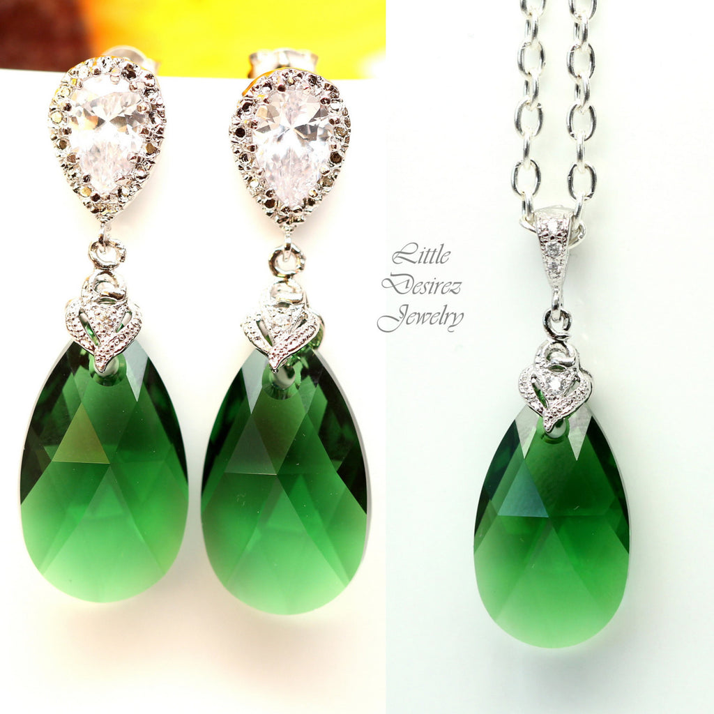 Dark Green Jewelry Set DM-32