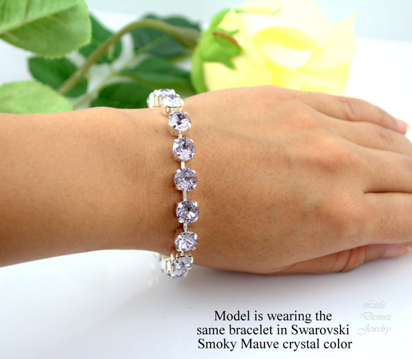 Swarovski Crystal Tennis Bracelet Many Colors Available CO-34