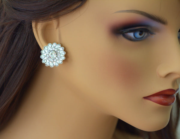 Crystal Flower Stud Earrings CELINA