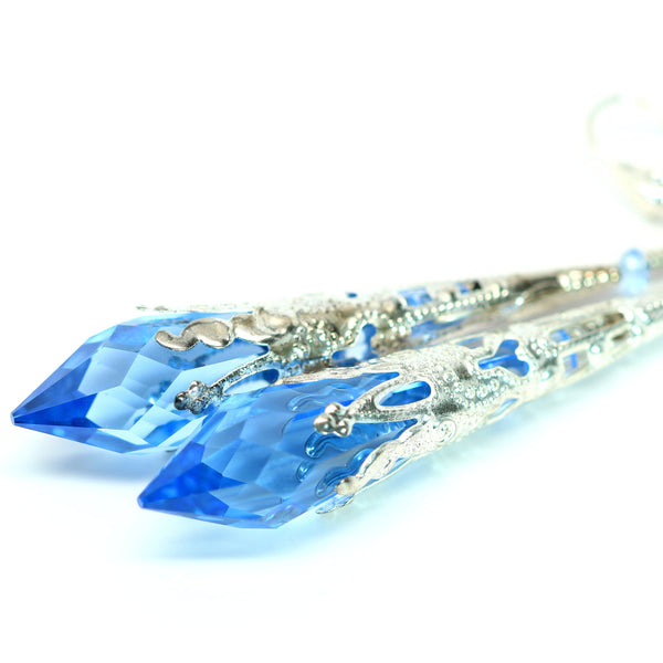 Sapphire Blue Earrings SP-36